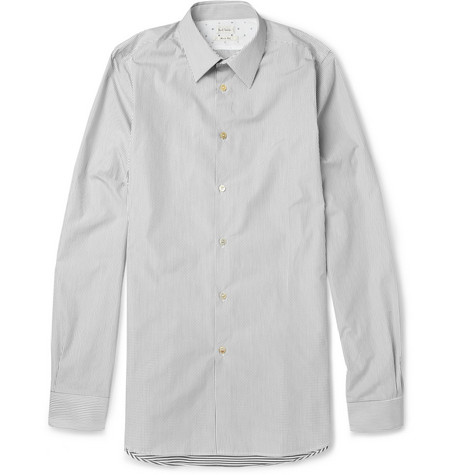 Paul Smith Slim-Fit Panelled Striped Cotton Shirt