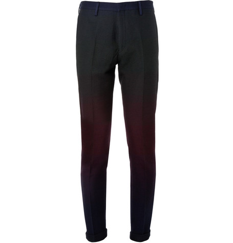 Paul Smith Slim-Fit Ombre Cotton-Blend Trousers