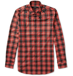 Givenchy Star and Plaid-Print Cotton Shirt