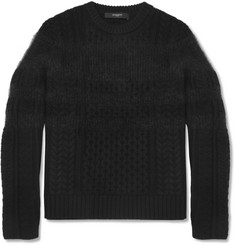Givenchy Cable Knit Wool and Mohair-Blend Sweater