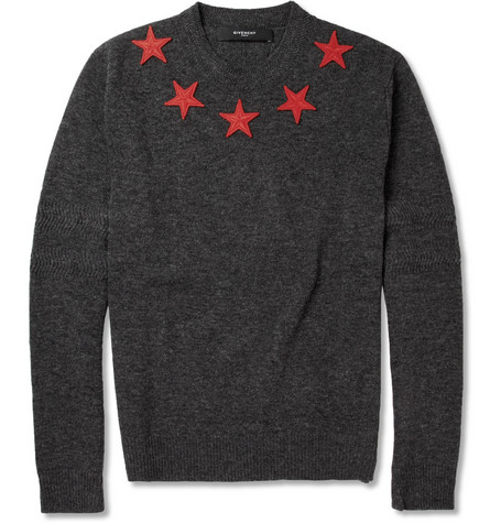 Givenchy Star-Appliquéd Wool Sweater
