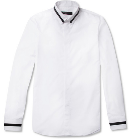 Givenchy White Slim-Fit Cotton Shirt
