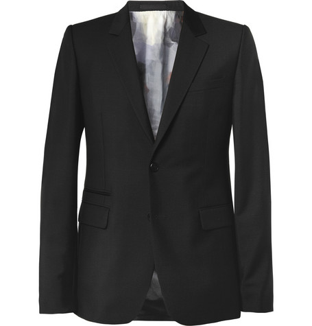 Givenchy Slim-Fit Print-Lined Wool-Blend Blazer