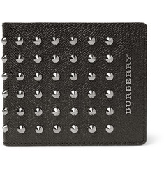 Burberry Shoes & Accessories Studded Cross-Grain Leather Wallet