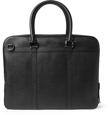 Burberry Shoes & Accessories Textured-Leather Briefcase