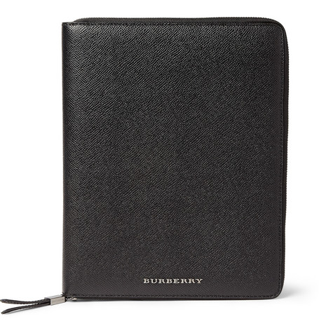 Burberry Shoes & Accessories Cross-Grain Leather iPad 2 Case