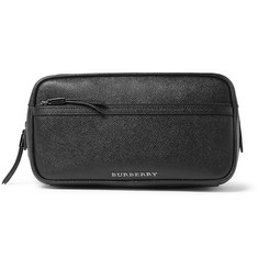 Burberry Shoes & Accessories Cross-Grain Leather Wash Bag