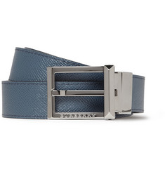 Burberry Shoes & Accessories Reversible Cross-Grain Leather Belt