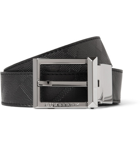 Burberry Shoes & Accessories Reversible Embossed Leather Belt