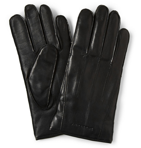Burberry Shoes & Accessories Touch Screen Cashmere-Lined Leather Gloves