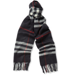 Burberry Shoes & Accessories Plaid Cashmere Scarf