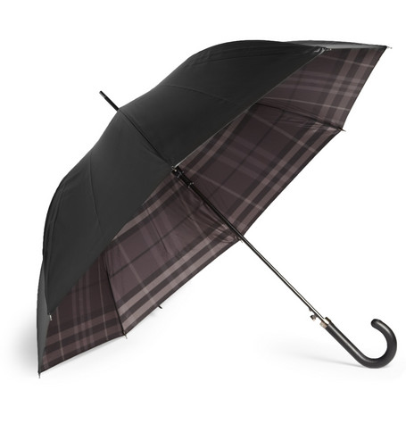 Burberry Shoes & Accessories Leather Handle Umbrella