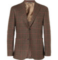 Canali Kei Unstructured Check Wool Blazer
