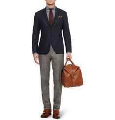 Canali Kei Unstructured Slim-Fit Wool-Blend Blazer