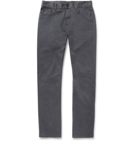 Canali Slim-Fit Cotton-Blend Chinos
