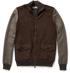 Canali Cashmere and Suede Bomber Jacket