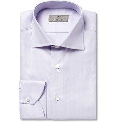 Canali Lilac Herringbone Cotton Shirt