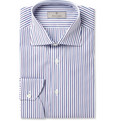 Canali - White Striped Cotton Shirt