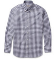 Canali - Button-Down Collar Check Cotton Shirt