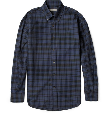 Canali Plaid Cotton Shirt