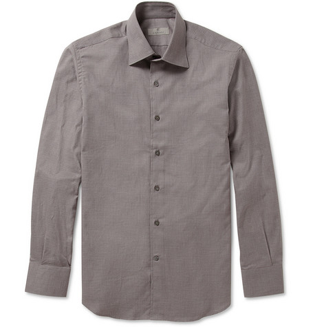 Canali Check Cotton Shirt
