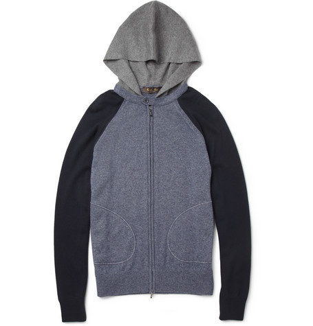 Loro Piana Knitted Silk and Cashmere-Blend Hoodie