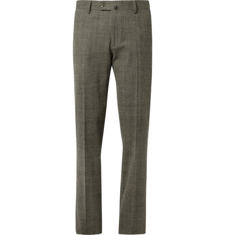 Loro Piana Regular-Fit Brushed Woven-Cotton Trousers