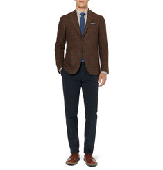 Loro Piana Regular-Fit Brushed Cotton-Blend Trousers