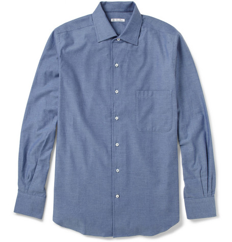 Loro Piana André Cotton-Flannel Shirt