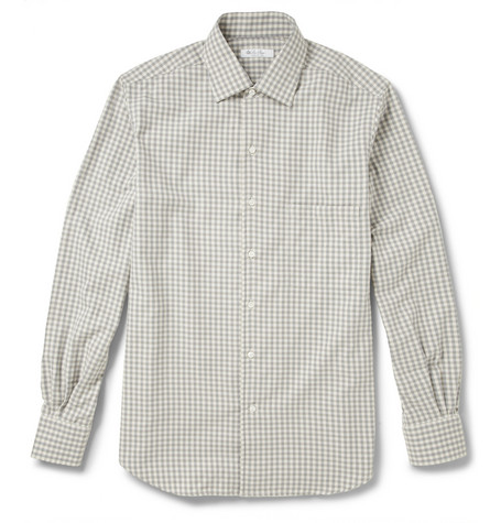 Loro Piana André Checked Cotton-Flannel Shirt