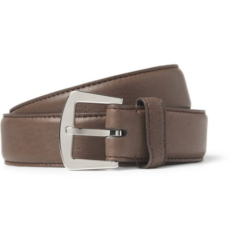 Loro Piana Brown 3cm Leather Belt