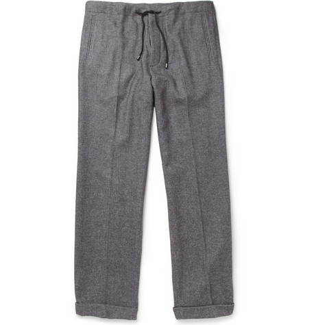 Maison Martin Margiela Loose-Fit Drawstring Wool-Blend Trousers
