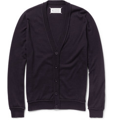 Maison Martin Margiela Piped Cotton and Wool-Blend Cardigan