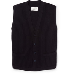 Maison Martin Margiela Slim-Fit Knitted Cotton and Wool-Blend Waistcoat