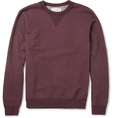 Maison Martin Margiela Elbow Patch Loopback Cotton-Jersey Sweatshirt