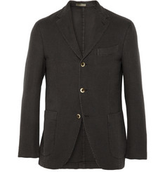Boglioli Coat Slim-Fit Unstructured Cotton Birdseye Blazer