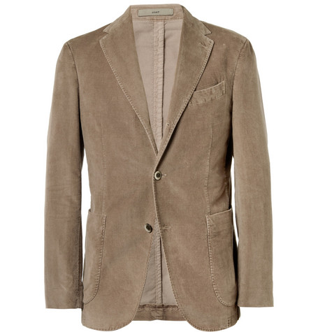 Boglioli Coat Slim-Fit Unstructured Corduroy Blazer
