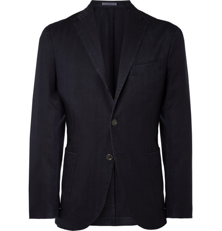 Boglioli K Unstructured Slim-Fit Lightweight Wool Blazer
