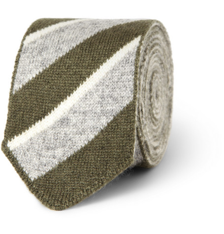 Boglioli Striped Knitted Cashmere Tie