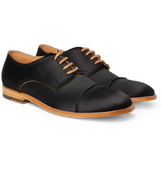 Maison Martin Margiela Silk Satin-Covered Leather Derby Shoes
