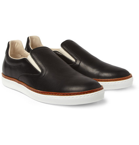 Maison Martin Margiela Leather Slip-On Sneakers