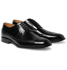 Maison Martin Margiela Reflective-Detail Leather Longwing Brogues