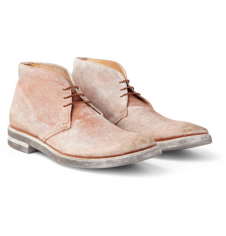 Maison Martin Margiela Washed-Leather Desert Boots
