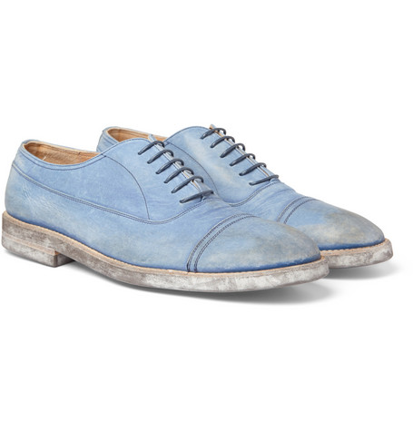Maison Martin Margiela Washed-Leather Oxford Shoes