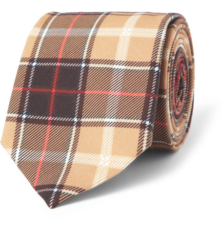 Givenchy Plaid Cotton Tie