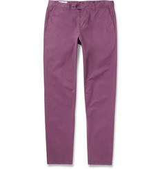 AMI Regular-Fit Brushed-Cotton Trousers
