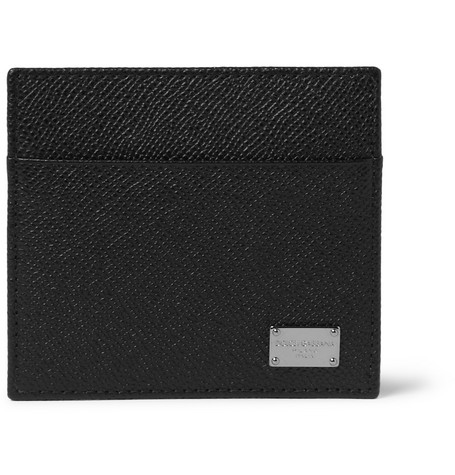 Dolce & Gabbana Cross-Grain Leather Card Holder
