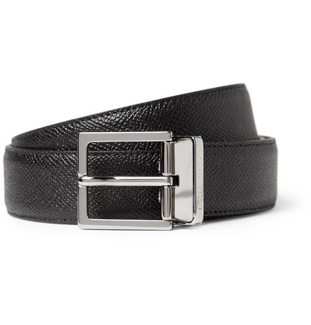 Dolce & Gabbana Cut-To-Fit Cross-Grain Leather Belt