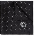 Dolce & Gabbana Swiss Dot Silk Pocket Square