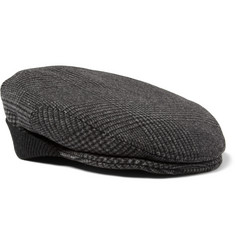 Dolce & Gabbana Prince of Wales Check Wool-Blend Flat Cap